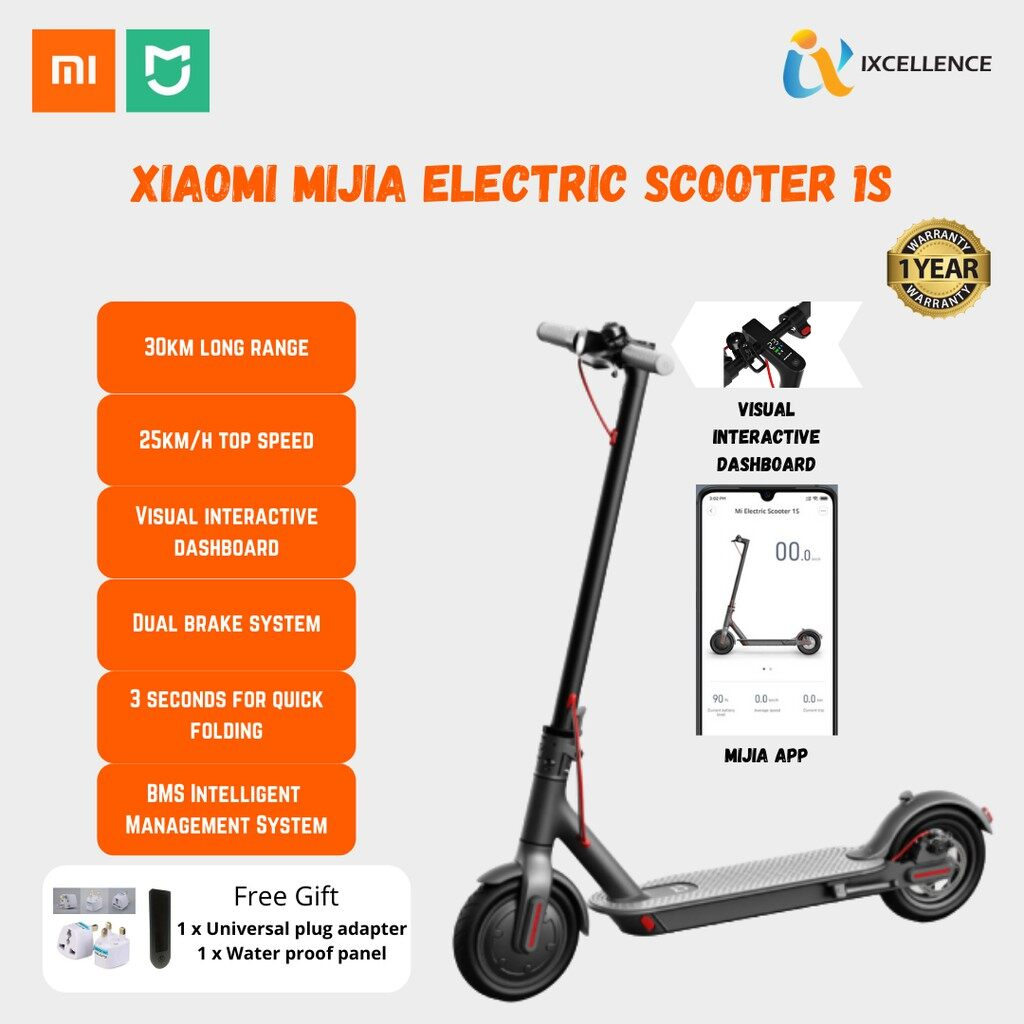[IX] Xiaomi Mi Home Mijia 1S / M365 Electric Scooter with KERS, E-ABS, 500W Motor, 30KM Range, Smart App Support