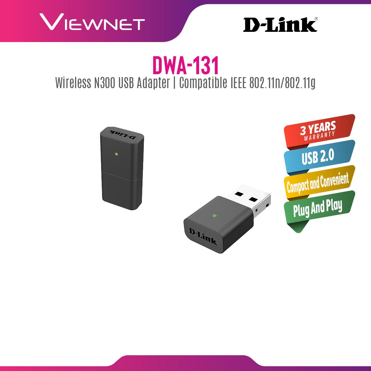 D-Link DWA-131 Wireless N NaNo 300M USB Mini WiFi Network Adapter