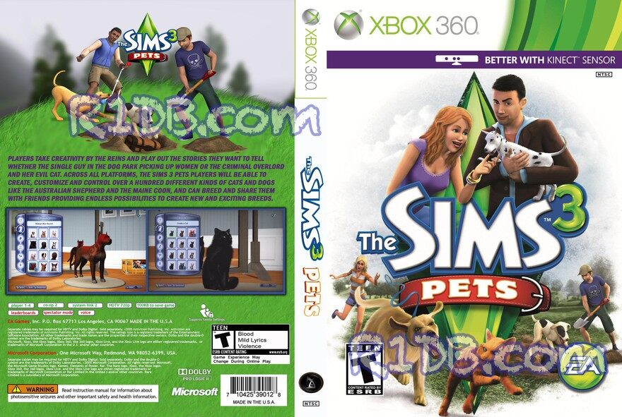 XBOX 360 The Sims 3 Pets