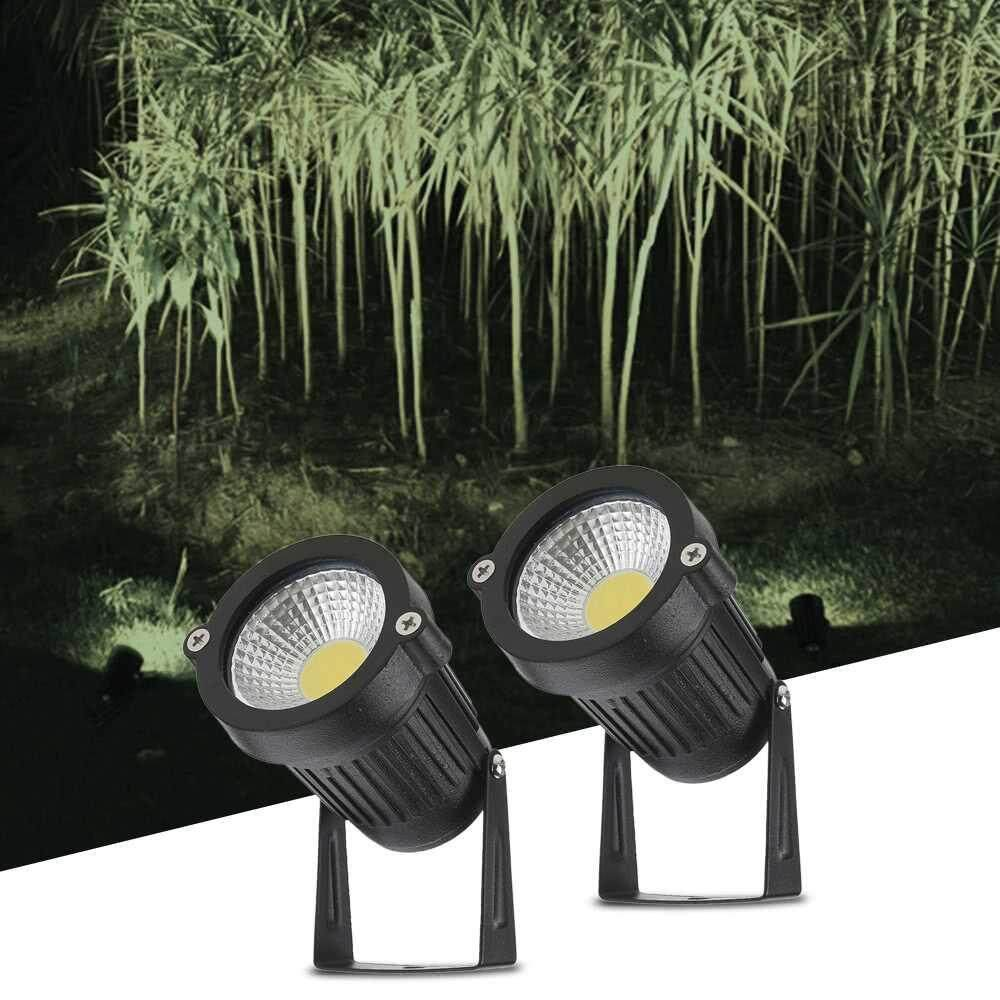 Tomshine 5W 2 Pack COB LED Lawn Lamp AC/DC 12V Outdoor Decorative Landscape light 500LM Super Bright High Power Spotlight for Garden Wall Yard Path
