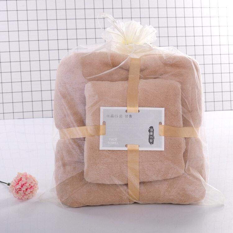 Towel Tuala 2IN1set Coral Velvet High Density Soft Towel Home Hotel Beach Face Hand Hair Baby Travel Bath Towel