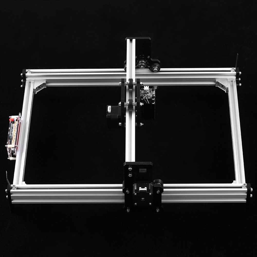 Best Selling Desktop DIY Laser Engraving Machine CNC Engraver Carver Laser Printer with Protective Glasses for Carving Cutting and Engraving (Silver)
