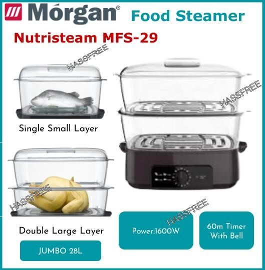 Morgan Food Steamer MFS-29 Nutristeam 28L Pengukus Elektrik