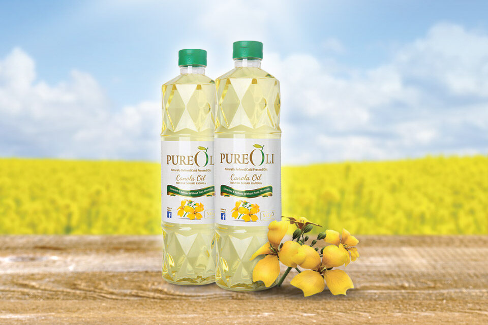 PureOli Sunflower Cooking Oil (1kg) Naturally Refinded cold Pressed Oil NRCpO -Ideal For Stir-Frying, Grilling, Cooking, Baking
