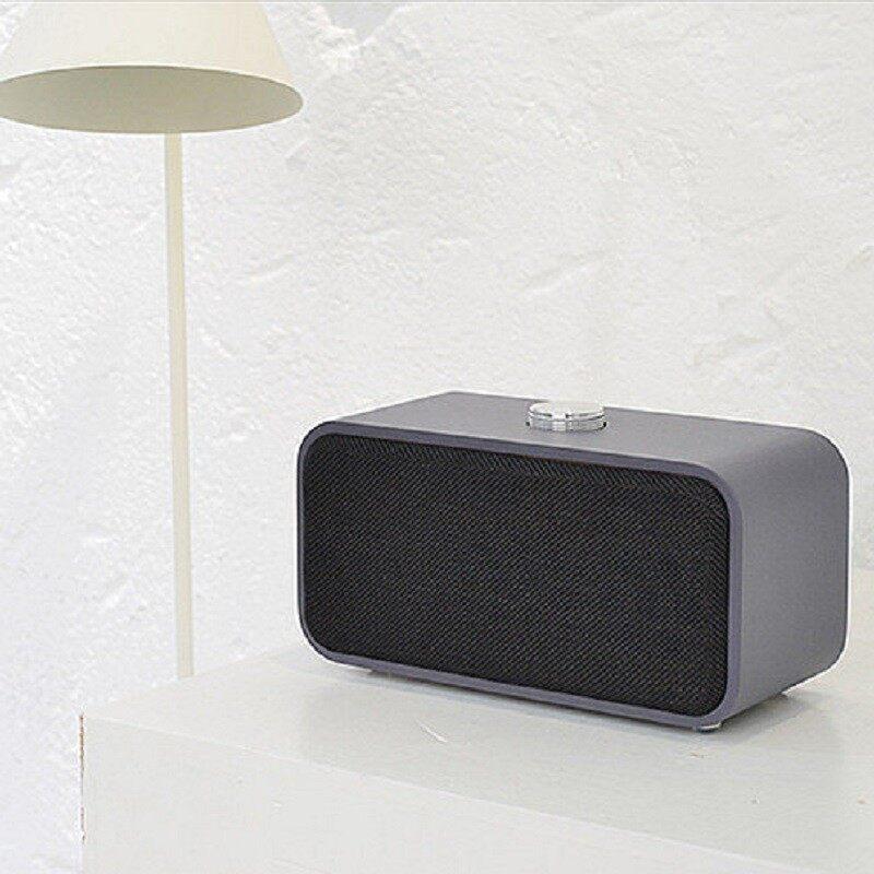 On-Ear Headphones - Wooden BLUETOOTH Speaker PORTABLE HIFI Stereo Bass 3D Audio TF Card - DARK WOOD / BLUE / LIGHT WOOD