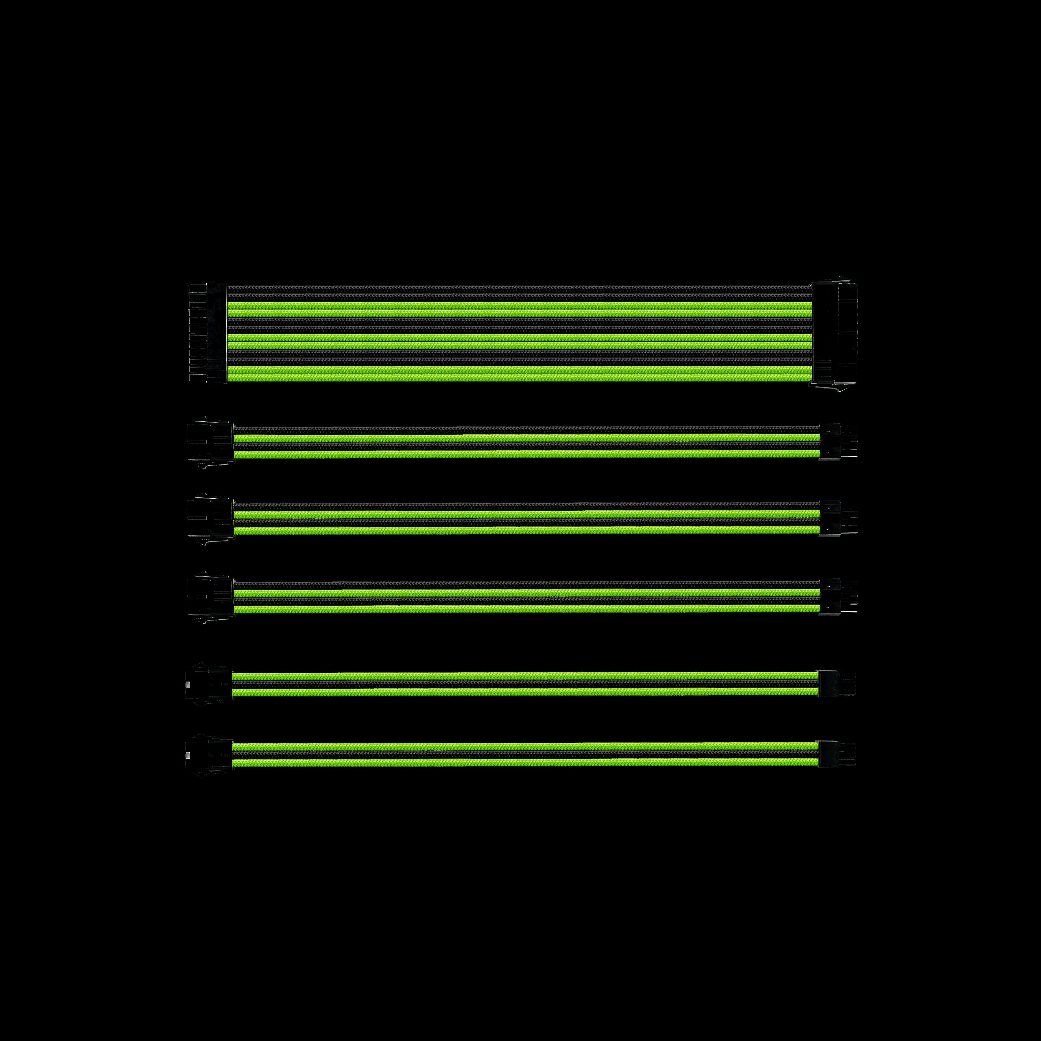 COOLER MASTER EXTENSION SLEEVE CABLE SET 300MM BLACK/GREEN (CMA-SEST16GRBK1-GL)