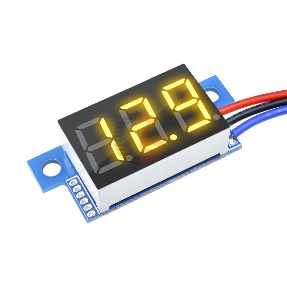 Mobile Cable & Chargers - Geekcreit DC 0-200V 0.36 Inch MINI Digital Volt Meter Voltage Tester 3 Wire - RED- / GREEN- / BLUE- / YELLOW
