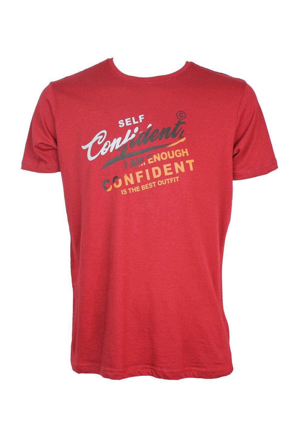 Self Confident Slogan Print T-shirt 964