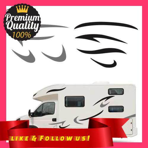 People\'s Choice Car Auto Body Sticker Self-Adhesive Side Truck Graphics Decals Fitment for Camper Caravan RV Trailer (Black)