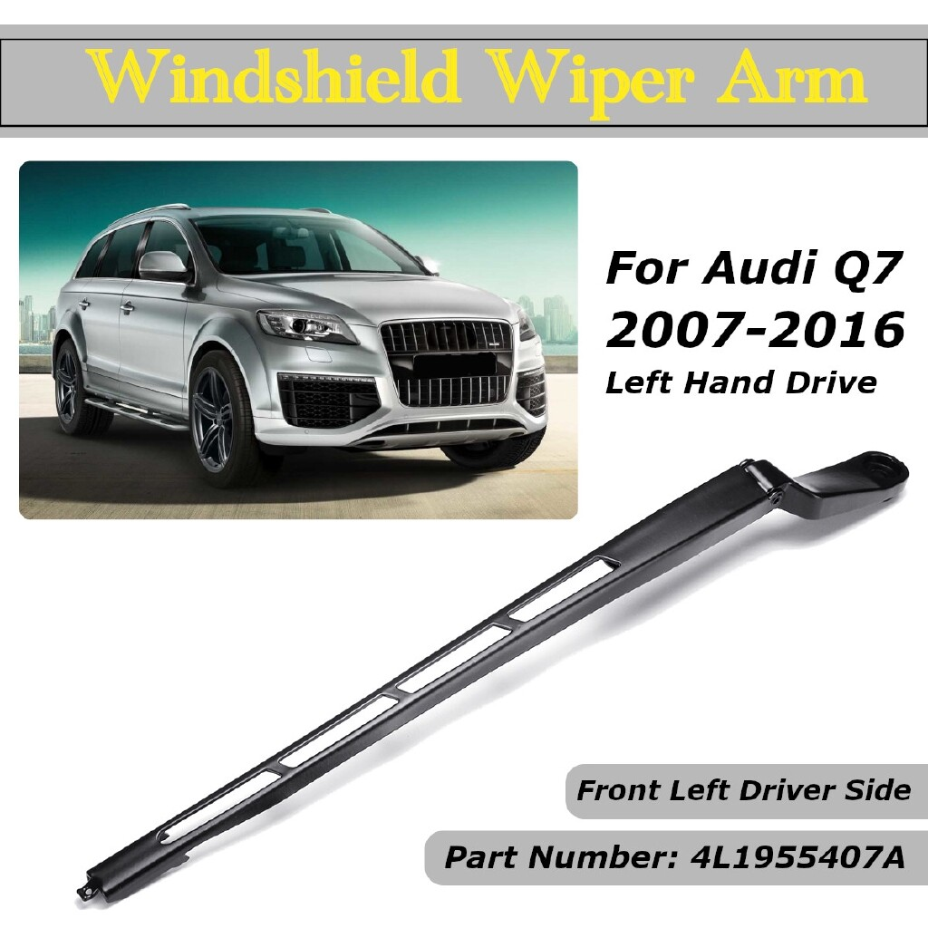 Windscreen Wipers & Windows - Front Driver Left Side Windshield Wiper Arm LHD 4L1955407A Fit Audi Q7 2007-2016 - Car Replacement Parts