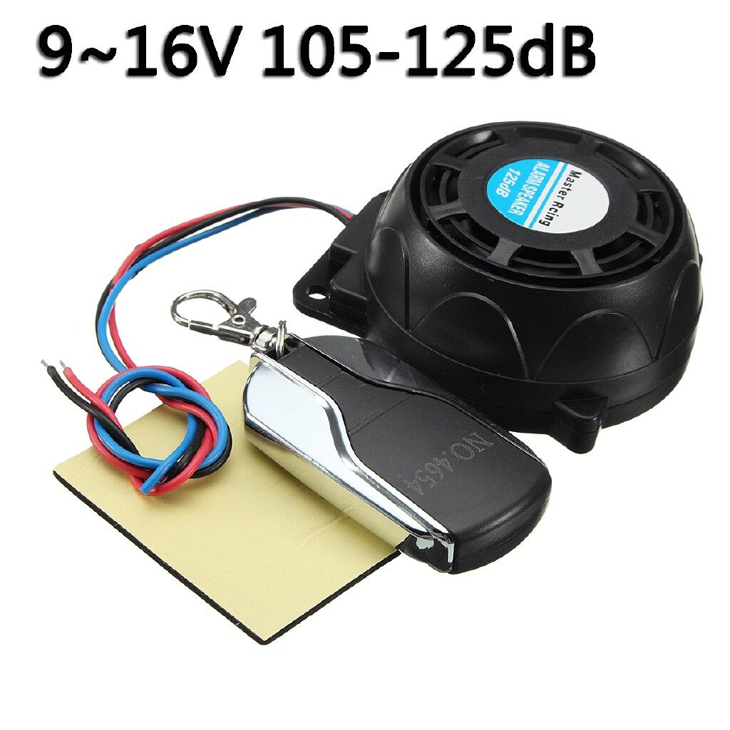 Car Lights - Anti-Locator Motorcycle 105-125dB Security Alarm System Anti Theft Remote Control SET - Replacement Parts