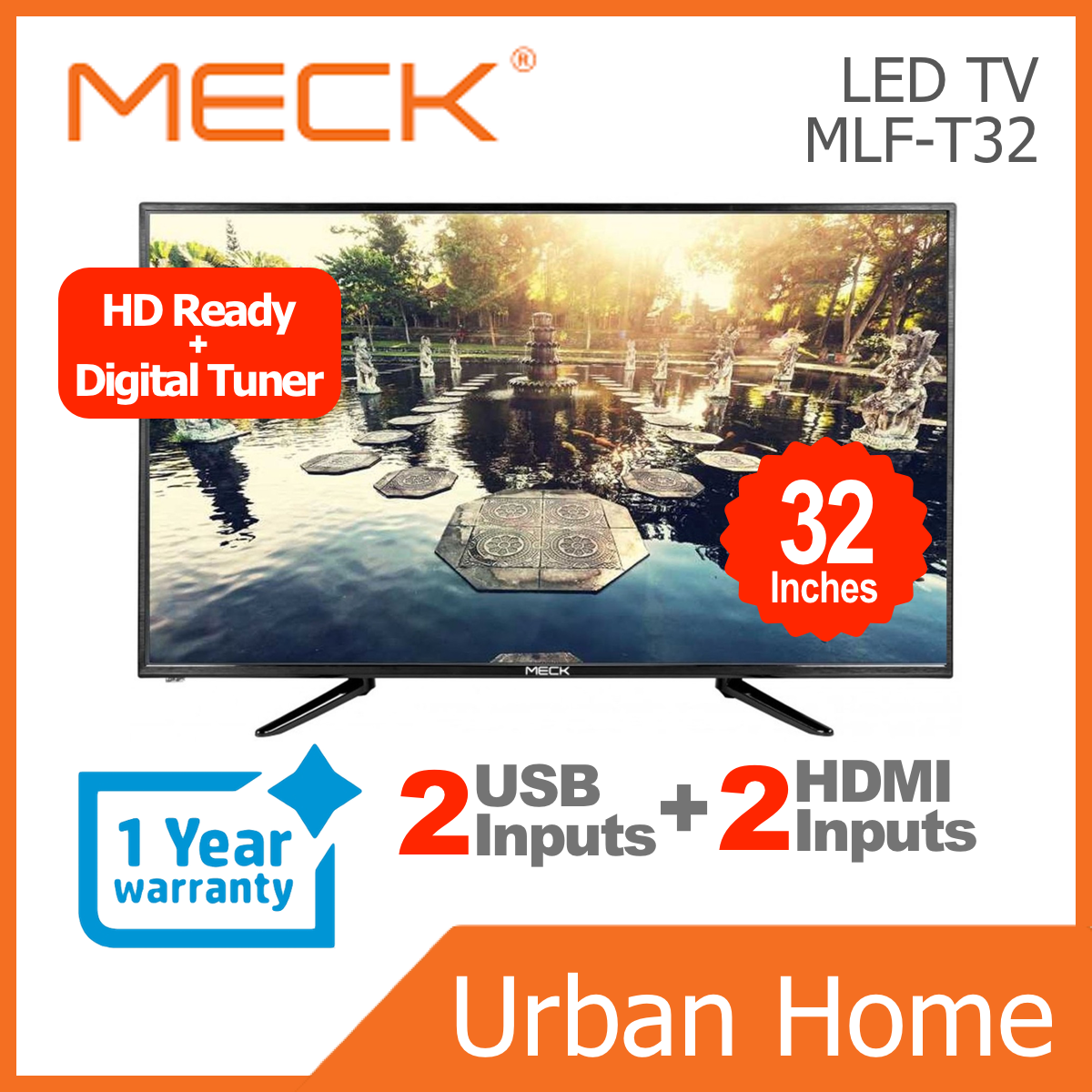 "MECK 32"" Digital Tuner LED TV (MLF-T32/MLFT32)"