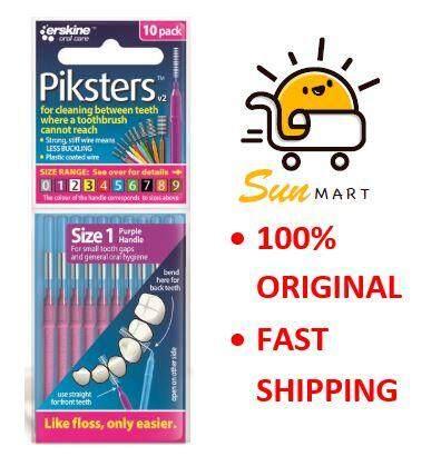 Piksters Interdental Brush Size 1 - Purple (10 Pcs/Pack)