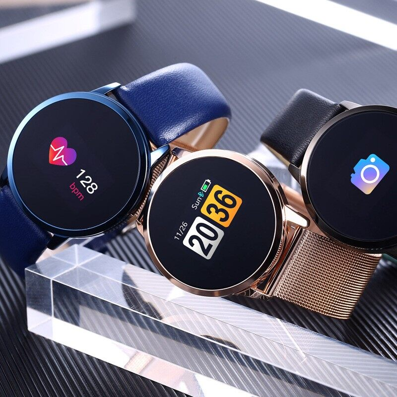 Smart Watch - Newwear Q8 OLED Color Screen Blood Pressure Heart Rate Smart Watch_3C - SILVER / GOLD / BLUE / WHITE / BLACK