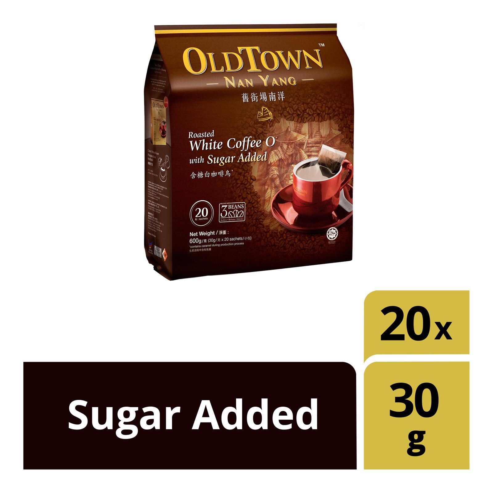 OLDTOWN Nan Yang Roasted White Coffee O KOPI-O Sugar Added (20 Sachets X 1 pack)