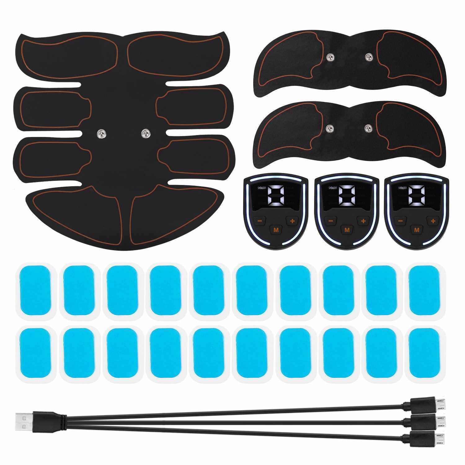 Muscle Trainer Abdominal Muscle Electrostimulation Multifunctional Fitness Accessories ABS Sculpting Massager Pad Home Gym Belly Arm Leg Massagers (Standard)