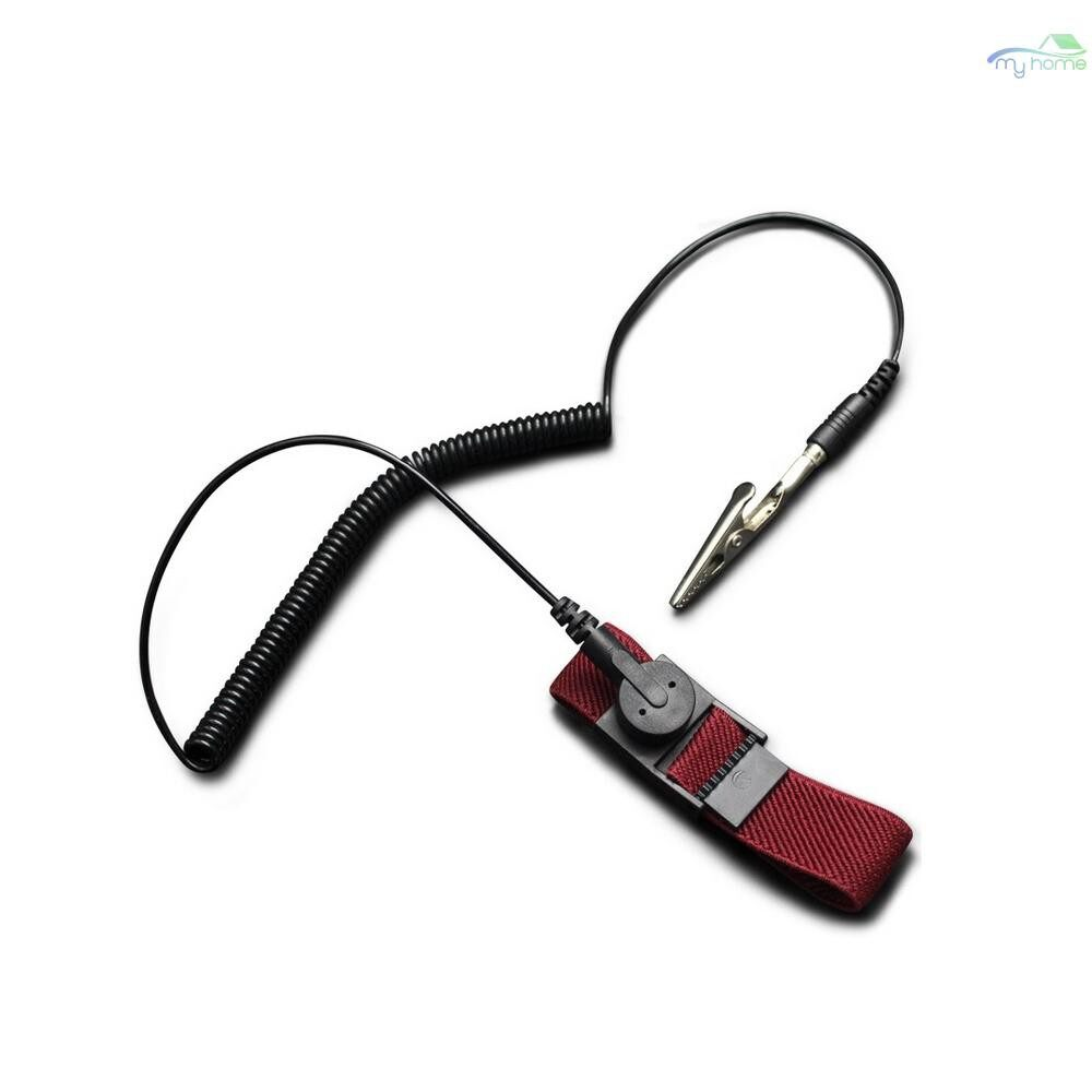 Protective Clothing & Equipment - PU Anti-Static Wrist Strap Band ESD Discharge AntiStatic Wrist Belt, Wine Red - Home Improvement