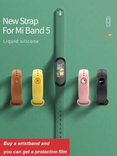 Vòng đeo Xiaomi Band 5 hình Avenger có thể điều chỉnh dây đeo thay thế vòng đeo tay dây đeo phổ biên in hình hoạt hình chất liệu siliconDây đeo hoạt hình xiaomi band 5 Avengers phiên bản 5.0 bằng silicon có thumbnail