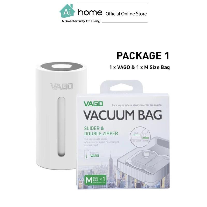 VAGO Portable Compressor TVD1 + 1 x Free M Size Bag with 1 Year Malaysia Warranty [ Ai Home ] VTVD1W