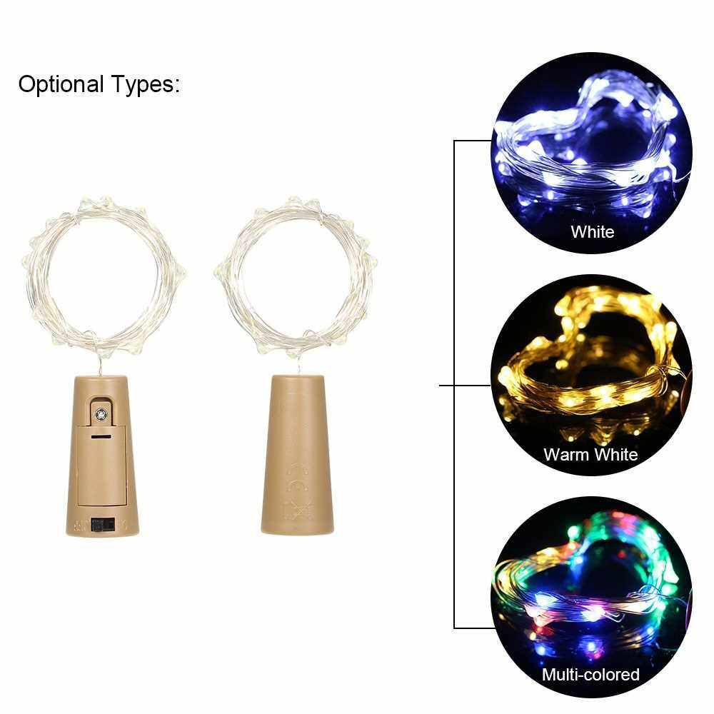 4.5V 1.2W 2Meters 20 LED Copper Wire Fairy String Light 10 Pack Warm White Twistable Bendable Foldable Bottle Stopper Atmosphere Lamp IP65 Water Resistance for Christmas Xmas Holiday Festival DIY Home Party Decoration Present Gift (Warm White)