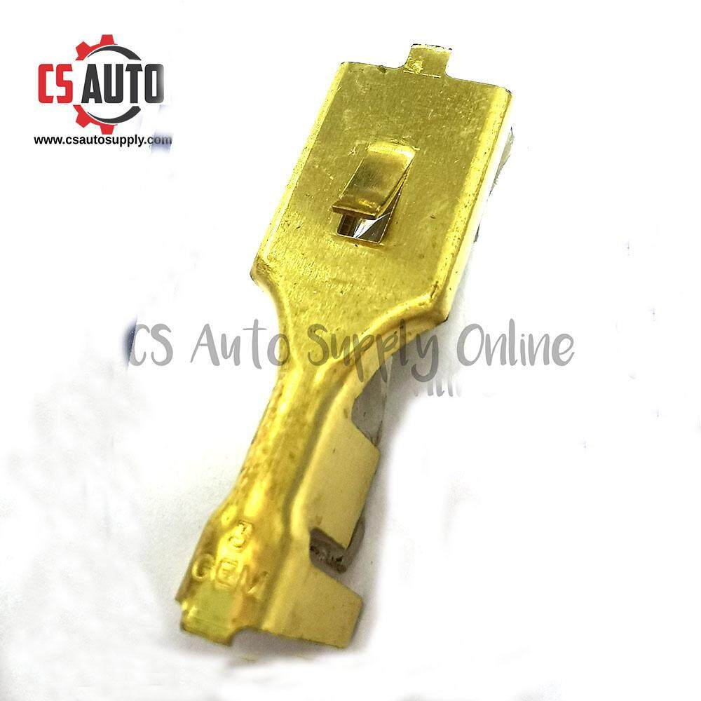 10pcs x Terminal Clip No.1 x HX3464 Brass Wire Clip Universal Gold Brass Car Female Connection Terminal Wire Connector