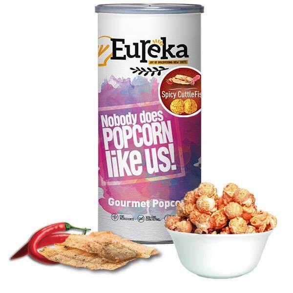 Eureka Spicy Cuttlefish Popcorn (Paper Can)