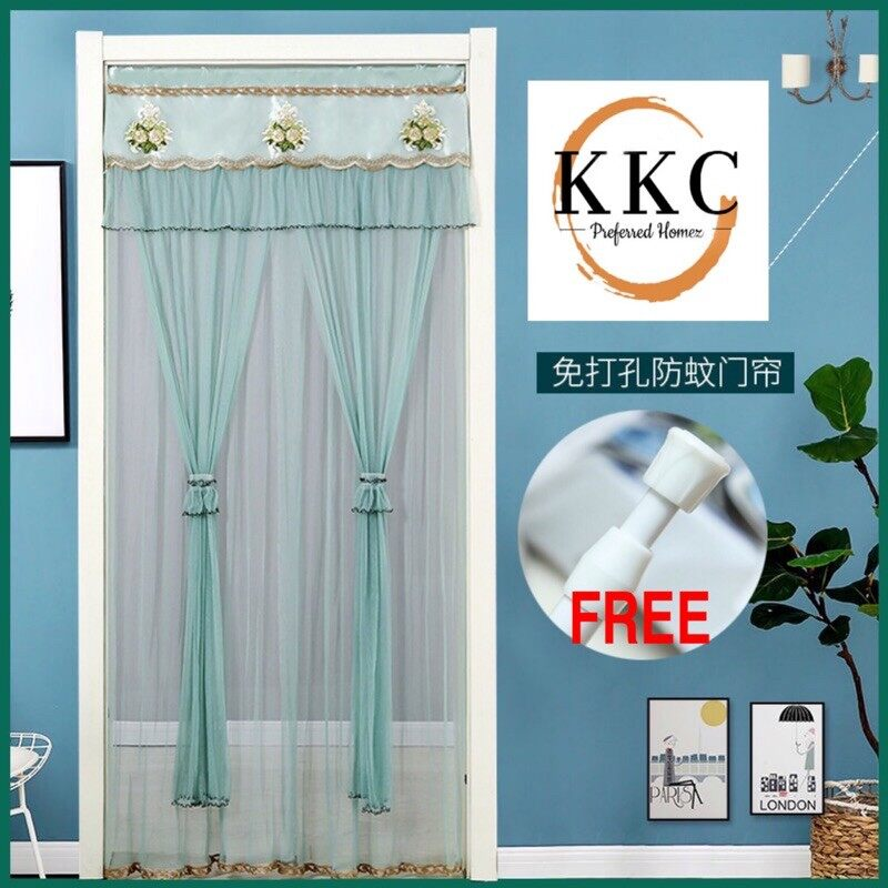KKC Madrid Door Curtains - 1 set /Ready Stok/Ship From Malaysia