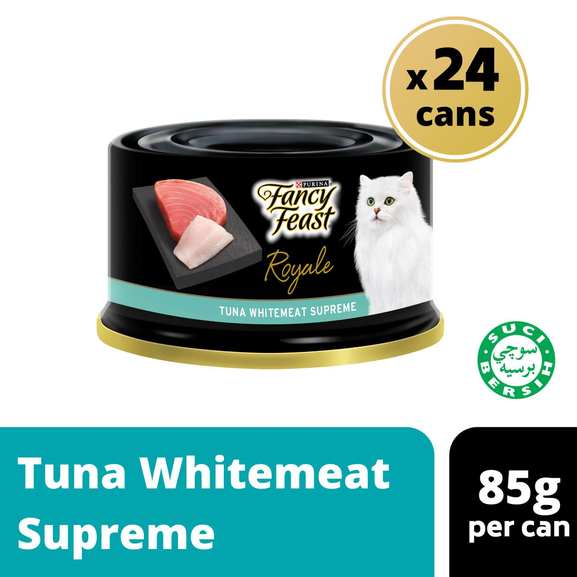 Fancy Feast Royale Tuna Whitemeat Supreme Wet Cat Food Can (24 x 85g)