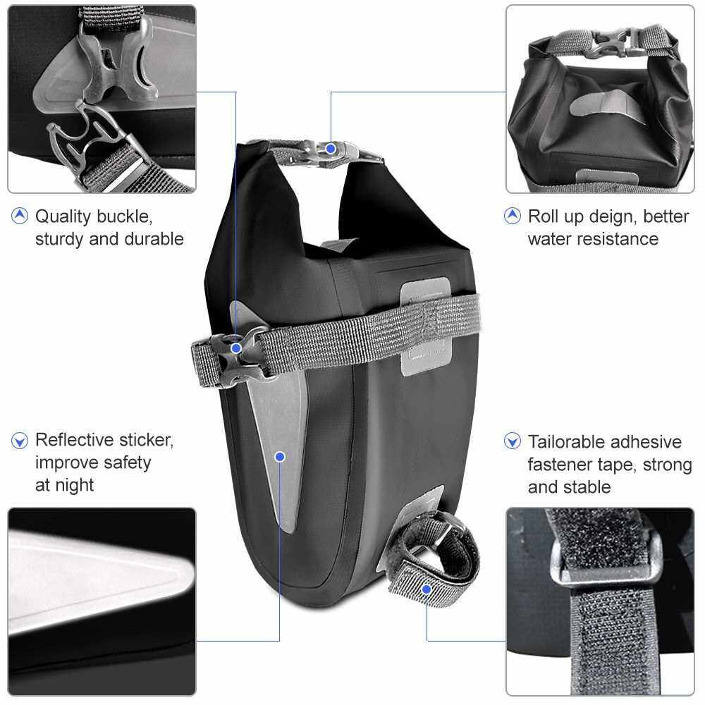 Best Selling Waterproof Bicycle Bag Reflective Cycling Rear Seat Post Bag Large Capacity Tail Rear Bag MTB Road Bike Bag Bicycle Storage Bag Bike Accessories (Green)