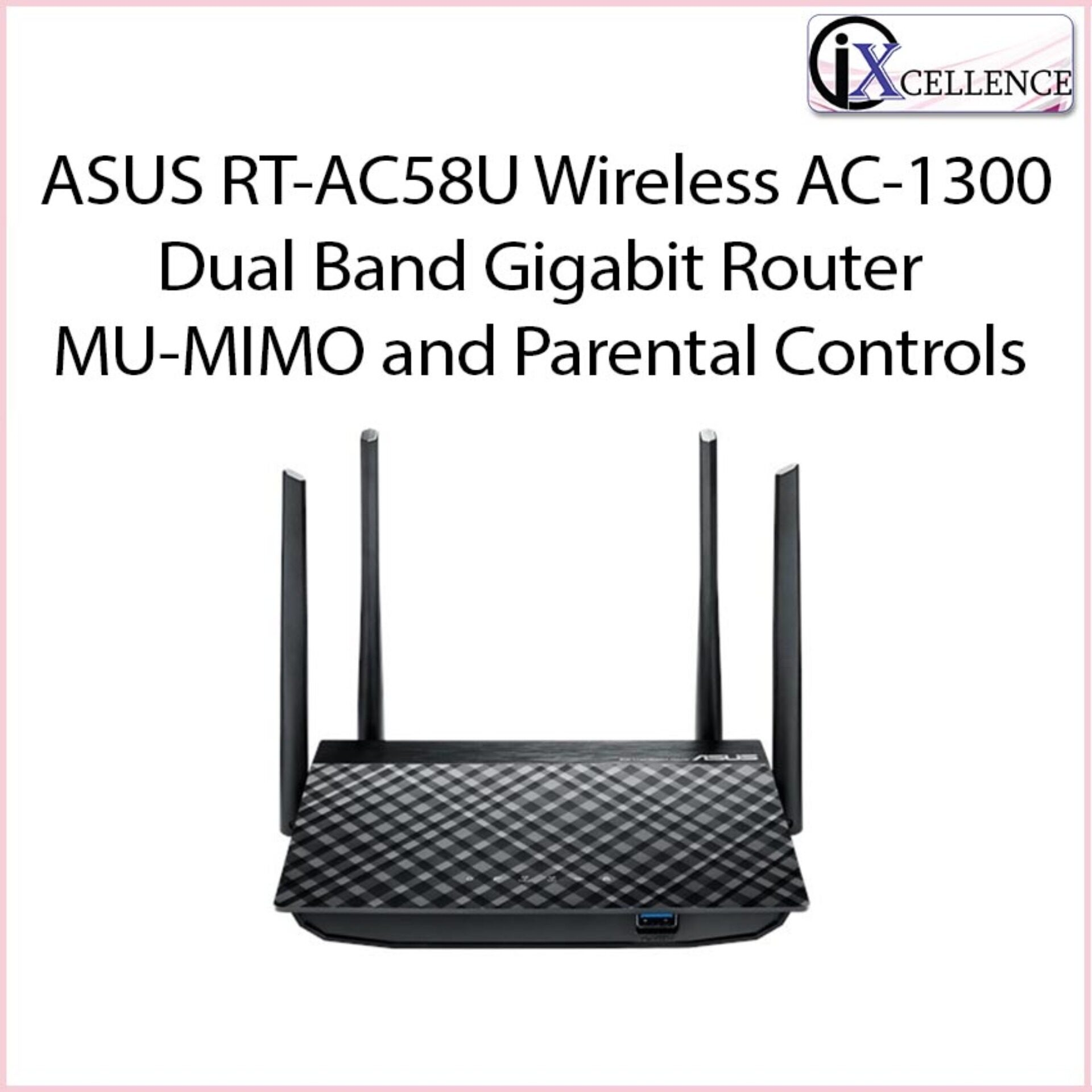[IX] ASUS RT-AC58U Wireless AC-1300 Dual Band Gigabit Router MU-MIMO and Parental Controls