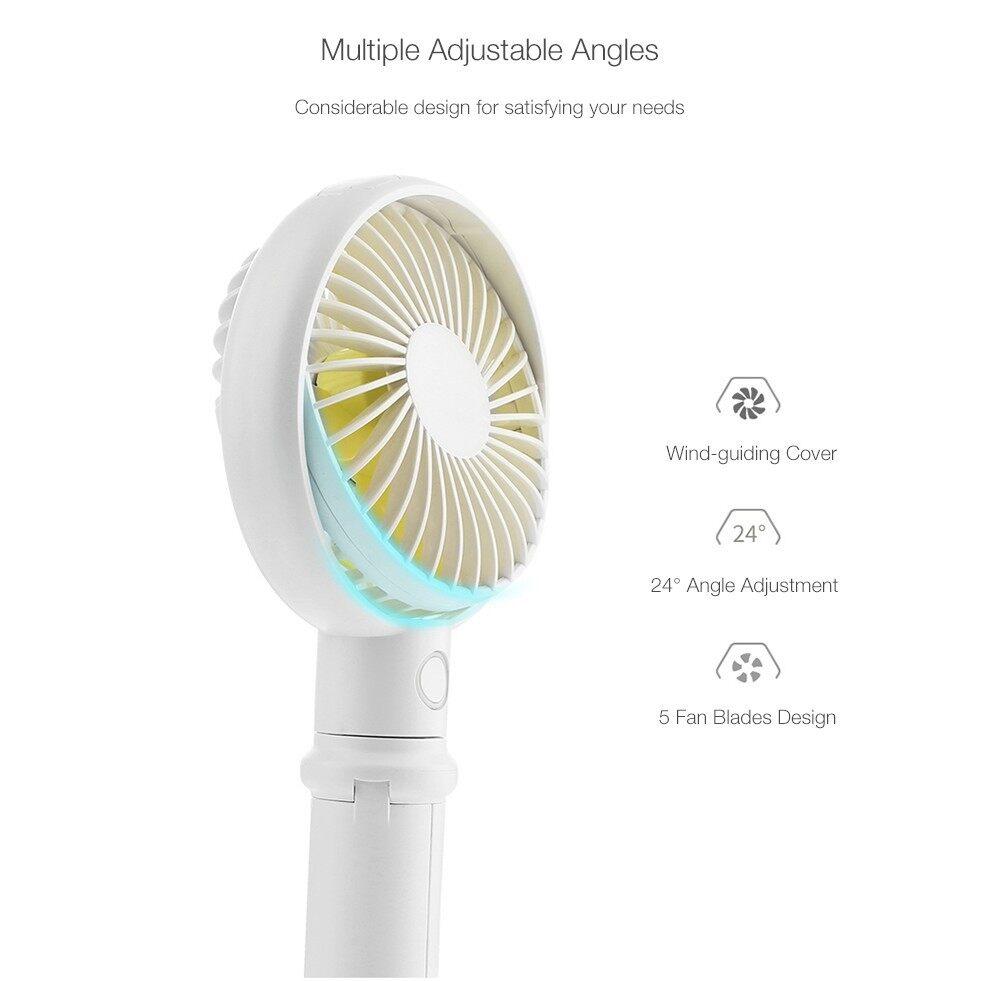 USB Fan - Benks MINI USB Rechargeable Handheld Desktop 3 Adjustable Speed Cooling Fan - PINK / GREEN / WHITE