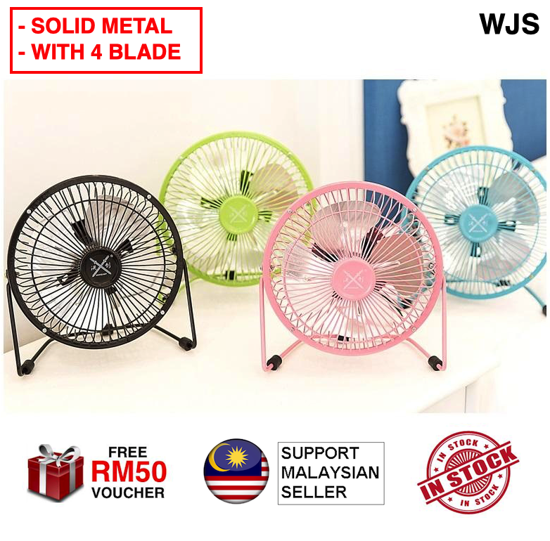 """(XL SIZE) WJS 360 Rotatable Solid Metal Large 6' 6"""" USB Fan Metal Table Fan Metal Fan Electric Fan Kipas Meja MULTICOLOR [FREE RM 50 VOUCHER]"""