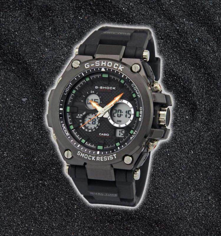Casio G-SHOCK_MTG Shock Resistant Fully Stainless Steel & Good Quality Rubber Strip Dual Time Dual Time Display Fashion Casual Watch For Men Ready Stock