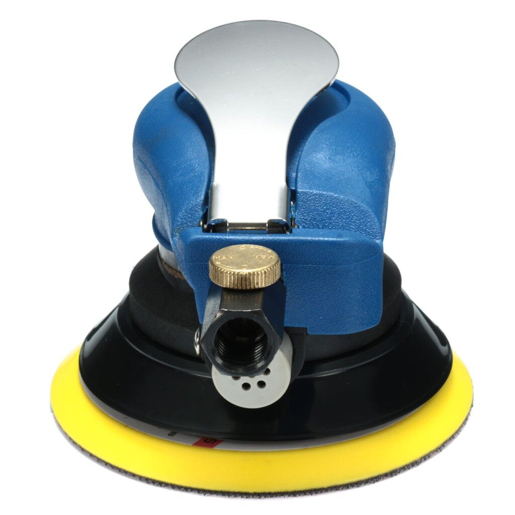 Automotive Tools & Equipment - 5 Random Orbital Air Palm Sander 125mm Pad Hand Power Tool Polisher - Car Replacement Parts