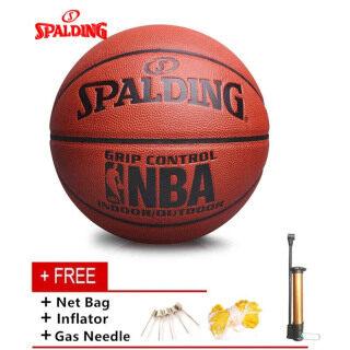 Bóng Rổ NBA Spalding604Y Chính Thức Chất Liệu Pu Size7 Thiết Bị Tập Bóng Trong Nhà Và Ngoài Trời (Lưới Và Bơm Bóng Miễn Phí thumbnail