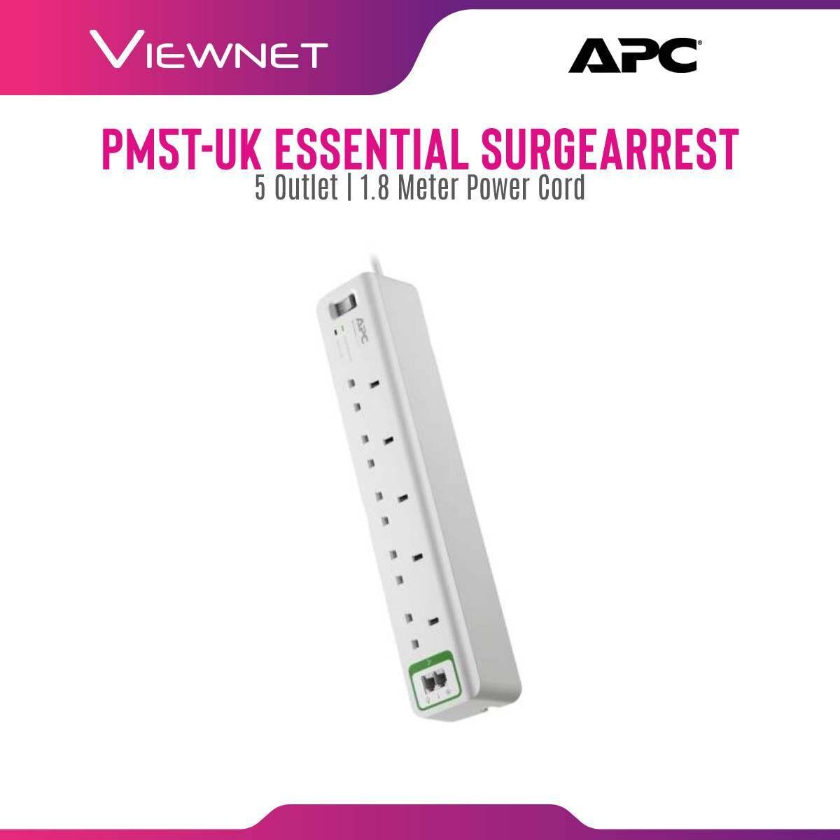 APC Essential SurgeArrest 5 outlets phone protection 230V UK PM5T-UK - White