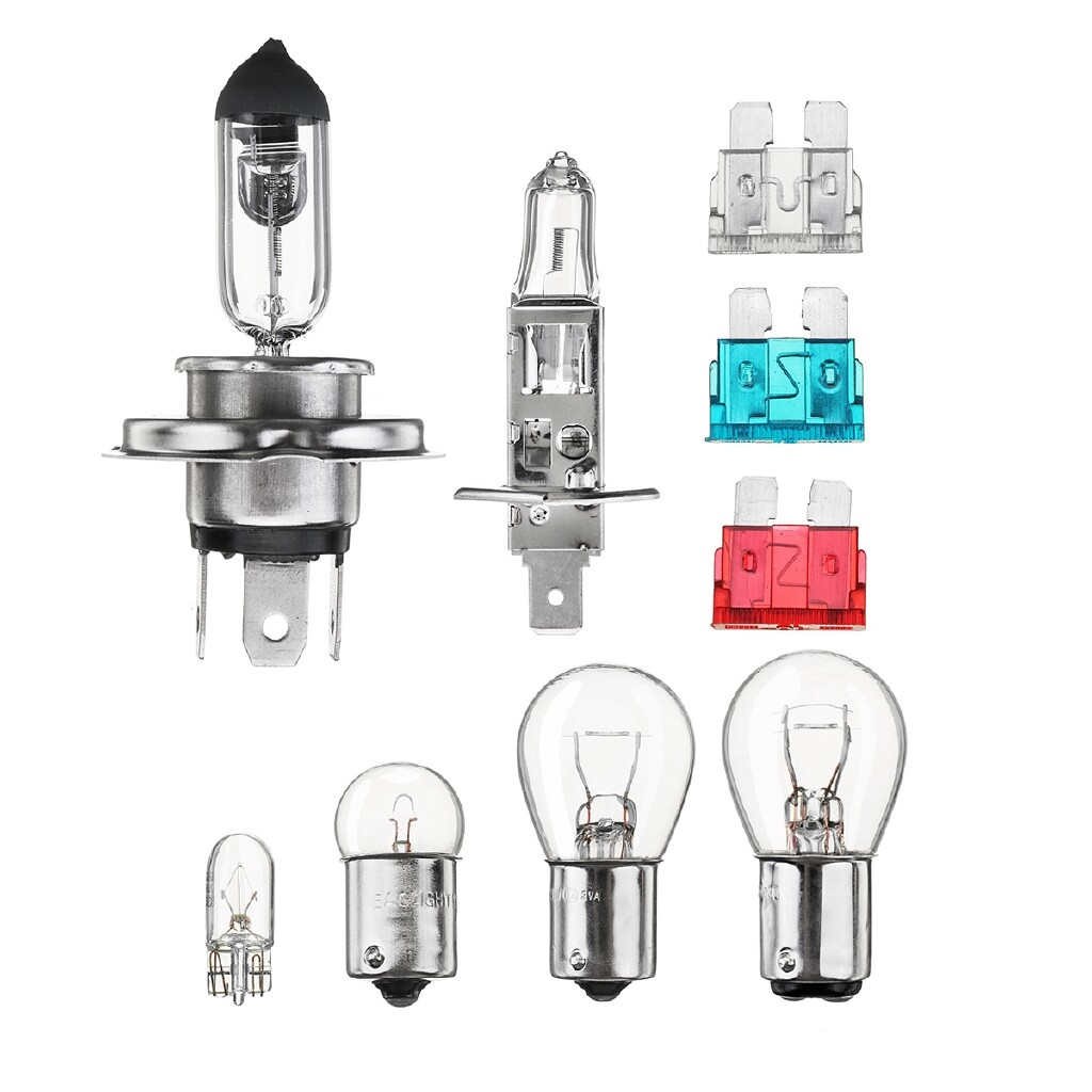 Car Lights - Universal 9 PIECE(s) Emergency Car Bulb & Spare Fuse Replacement Kit H1 H7 T10 1156 - Replacement Parts