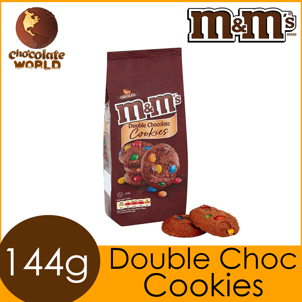 M&M's Double Chocolate Cookies 144g (Made in UK)