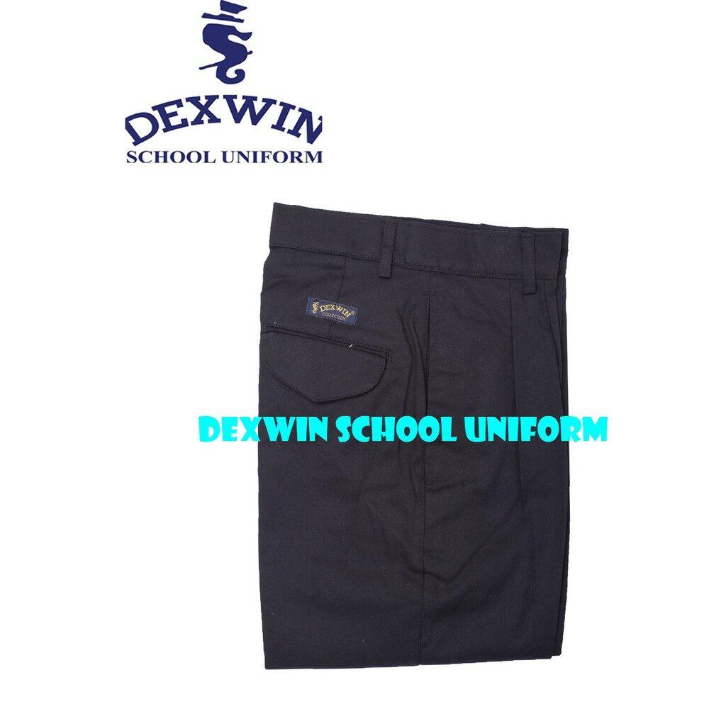 seluar hitam tiada getah kain cotton sekolah teknik kolej vokasional pengawas