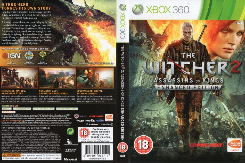XBOX 360 The Witcher 2 Assassins Of Kings Enhanced Edition