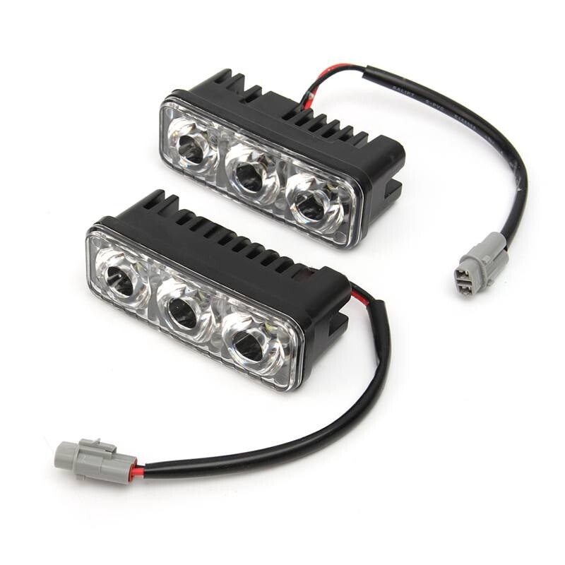 Car Lights - 2 PIECE(s) Car Auto LED Daytime Running Lights With Lens Waterproof Zinc Alloy Super - Replacement Parts