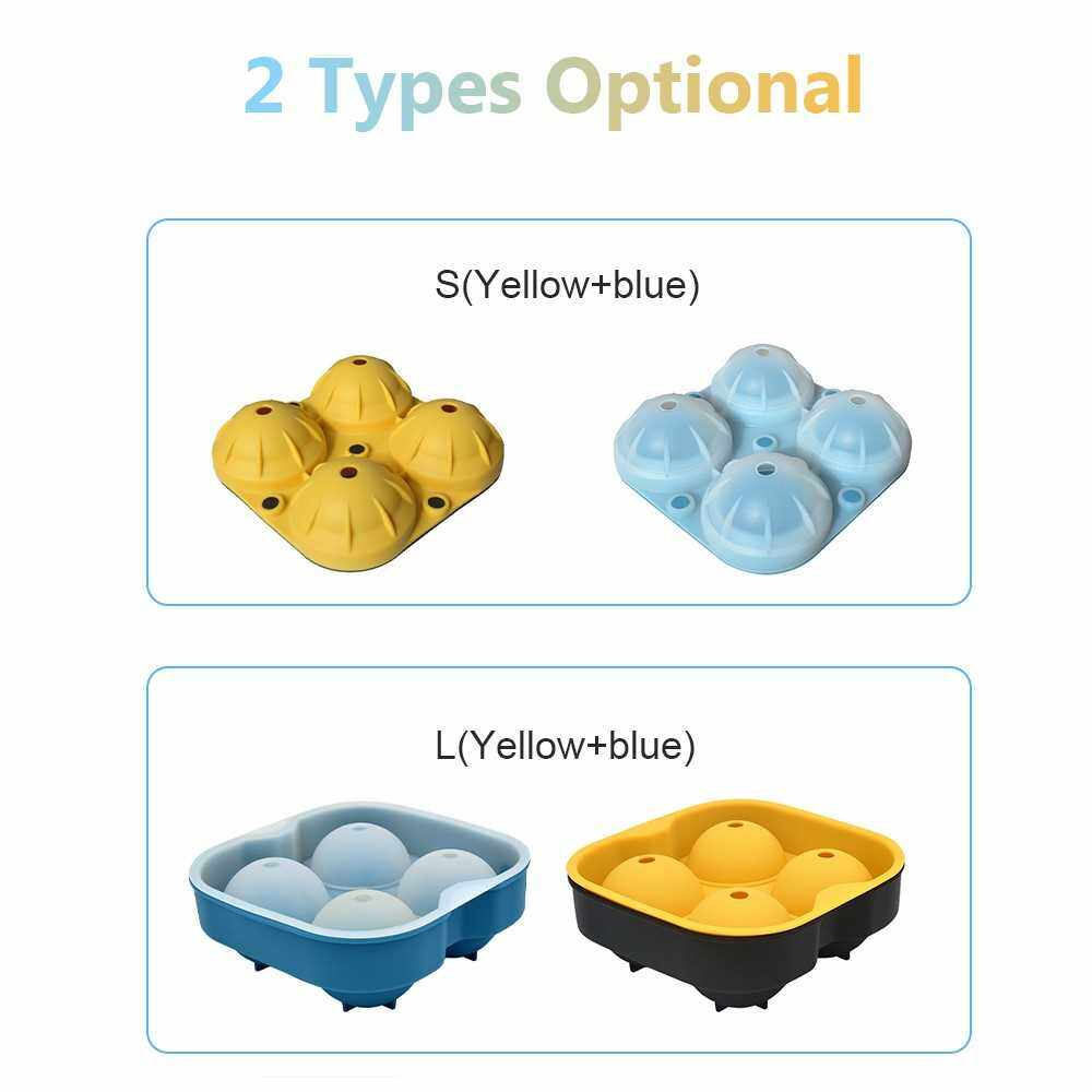 Best Selling Sphere Ice Ball Maker Silicone Ice Ball Tray Molds with Removable Lids for Whiskey Cocktail Ice Tea Juices 2PCS (S)