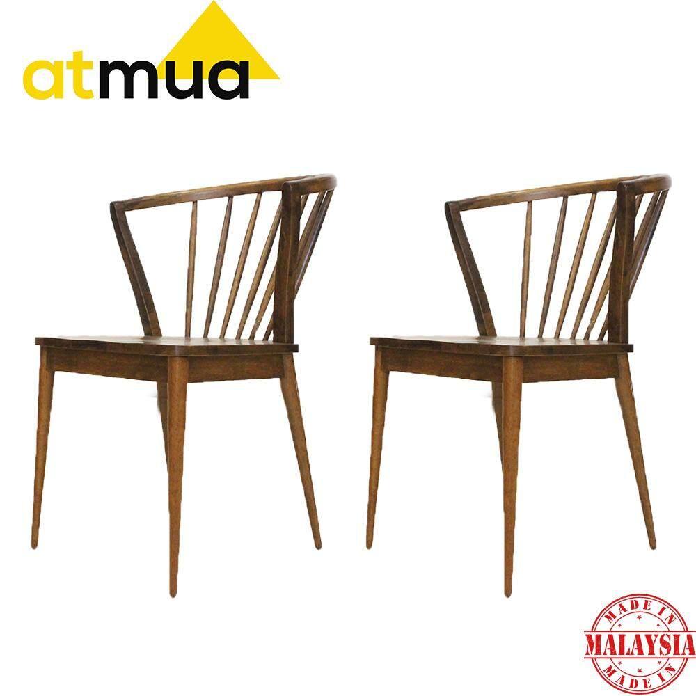 Atmua Blush Dining Chair - Designer Choice (2 Unit) [Full Solid Wood]