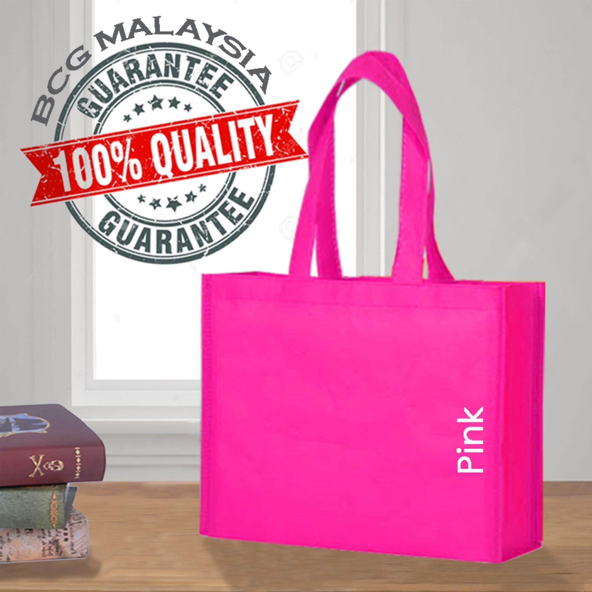 [Ready Stock] BCG Malaysia A3 Pink Non Woven Bag Recycle Bag 100% Quality Assured