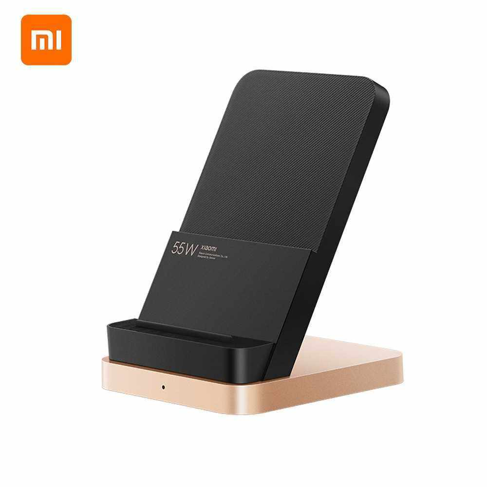 Xiaomi 55W Wireless Charger Vertical Quick Charger Air-cooled Wireless Charging Support Fast Charger For Xiaomi 10 Pro Mainstream Phones (Black)