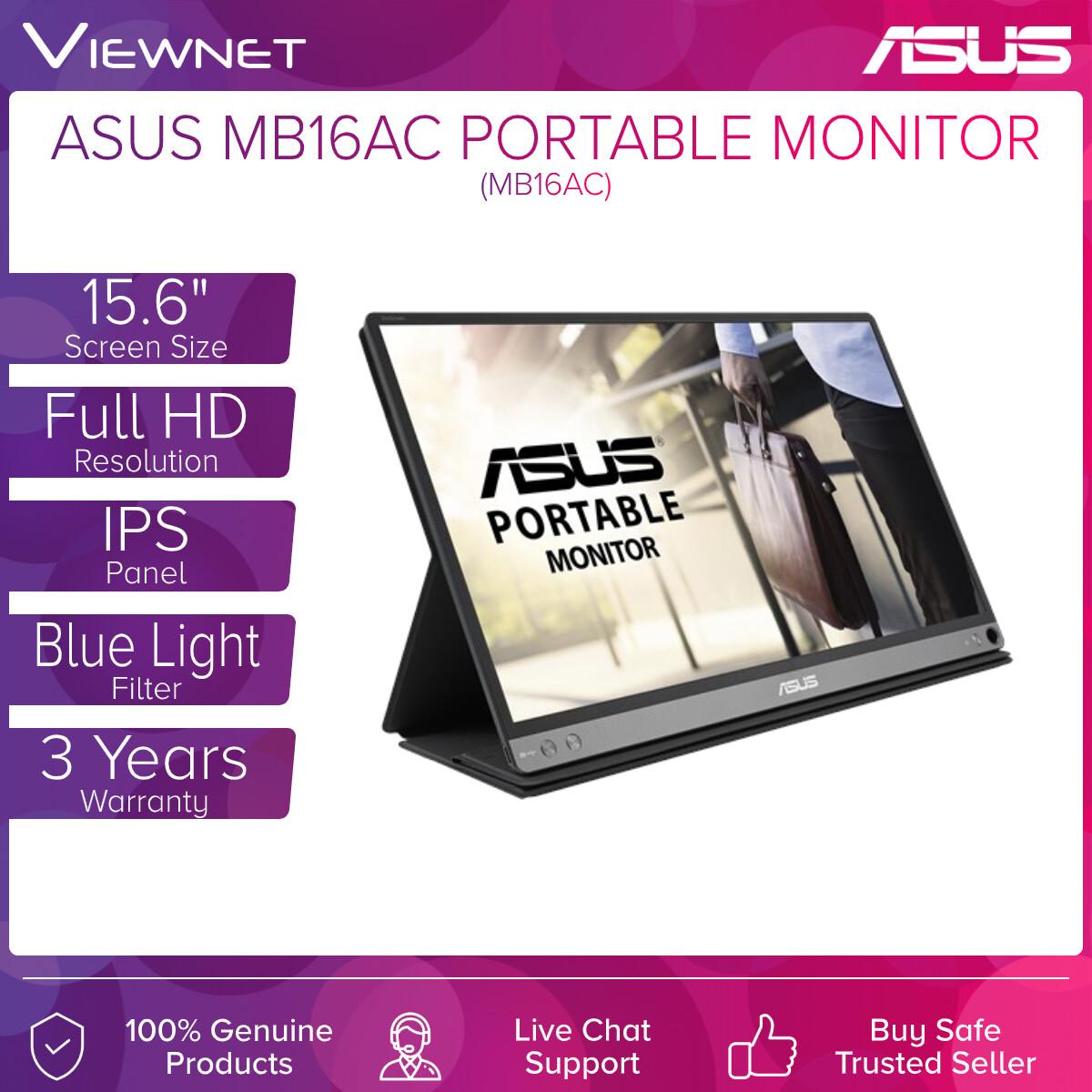 ASUS ZenScreen MB16AC 15.6'' Portable USB Monitor, ASUS ZenScreen MB16AC Portable USB Monitor, USB Type-C Port