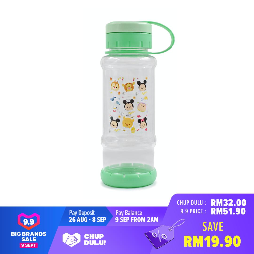 Disney Tsum Tsum Transparent School KidS Drinking 780ML Water Bottle With Hand Holder -Green Colour