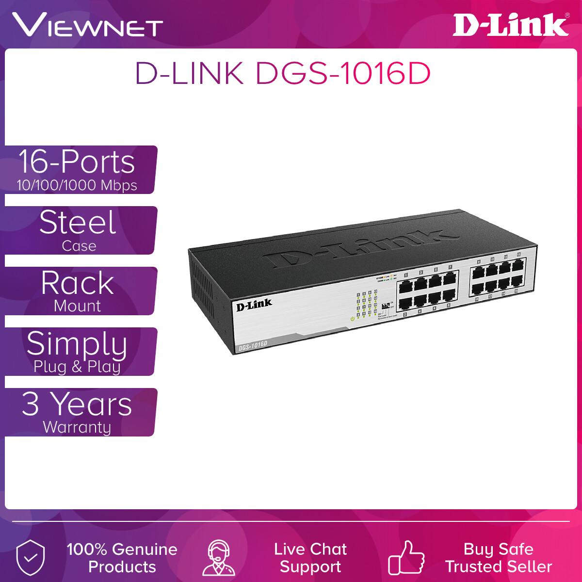 D-Link DGS-1016D 16-Port Unmanaged Gigabit Desktop/Rackmount Switch