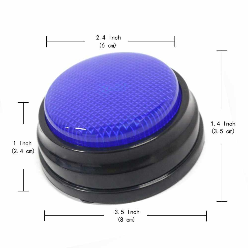 Recordable Talking Button with Led Function Learning Resources Answer Buzzers Blue (Blue)