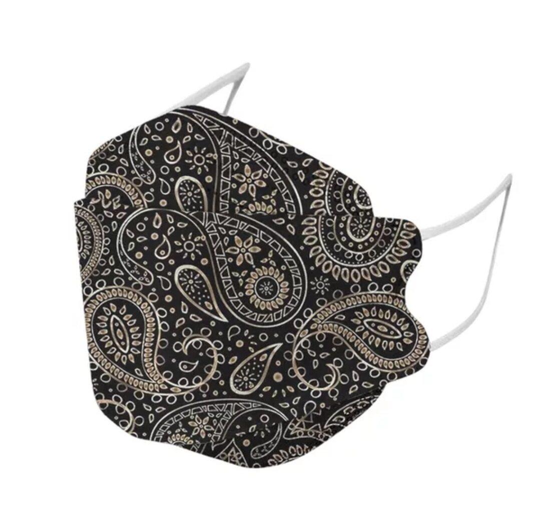 Oriental Secret KF94 Floral Face Mask, Batik Face Mask, Face Shield, Face Cover